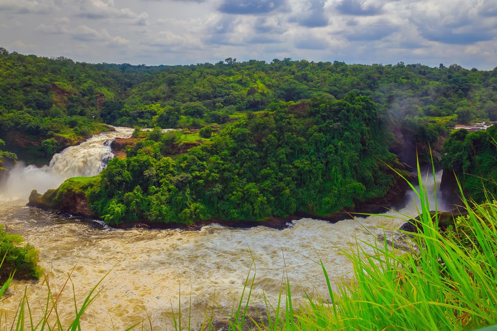 uhuru falls beside murchison falls