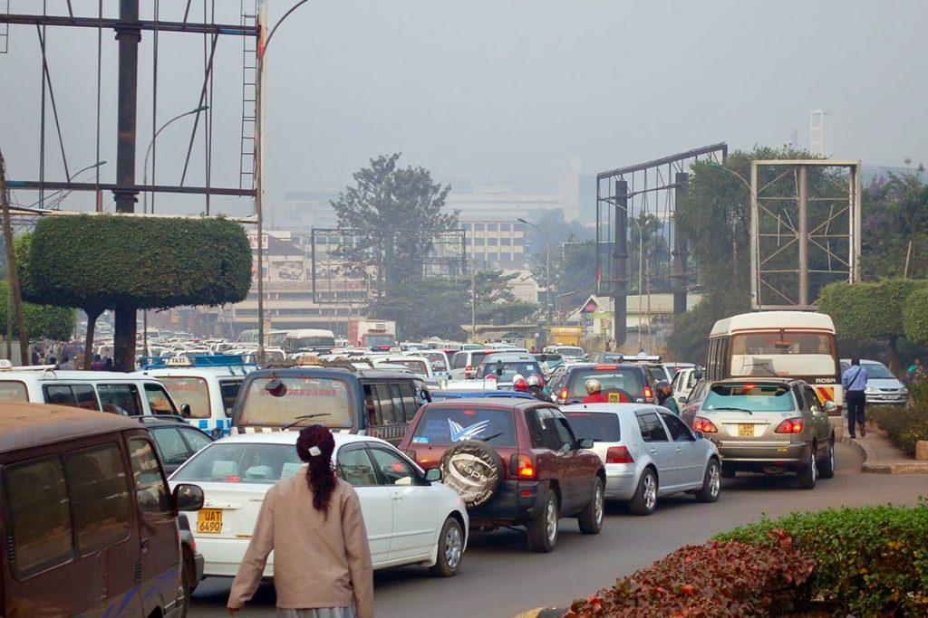 self driving in Kampala traffic