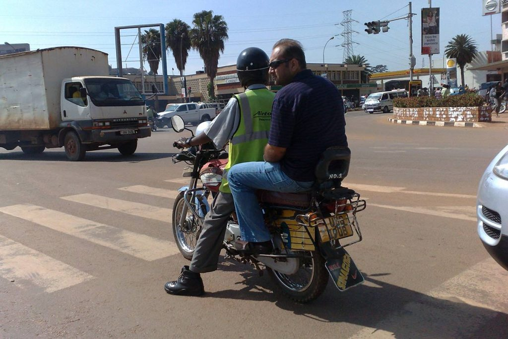 Boda Boda Ride is the easiest and cheapest way to move in Uganda; How To Travel in Uganda On a Budget