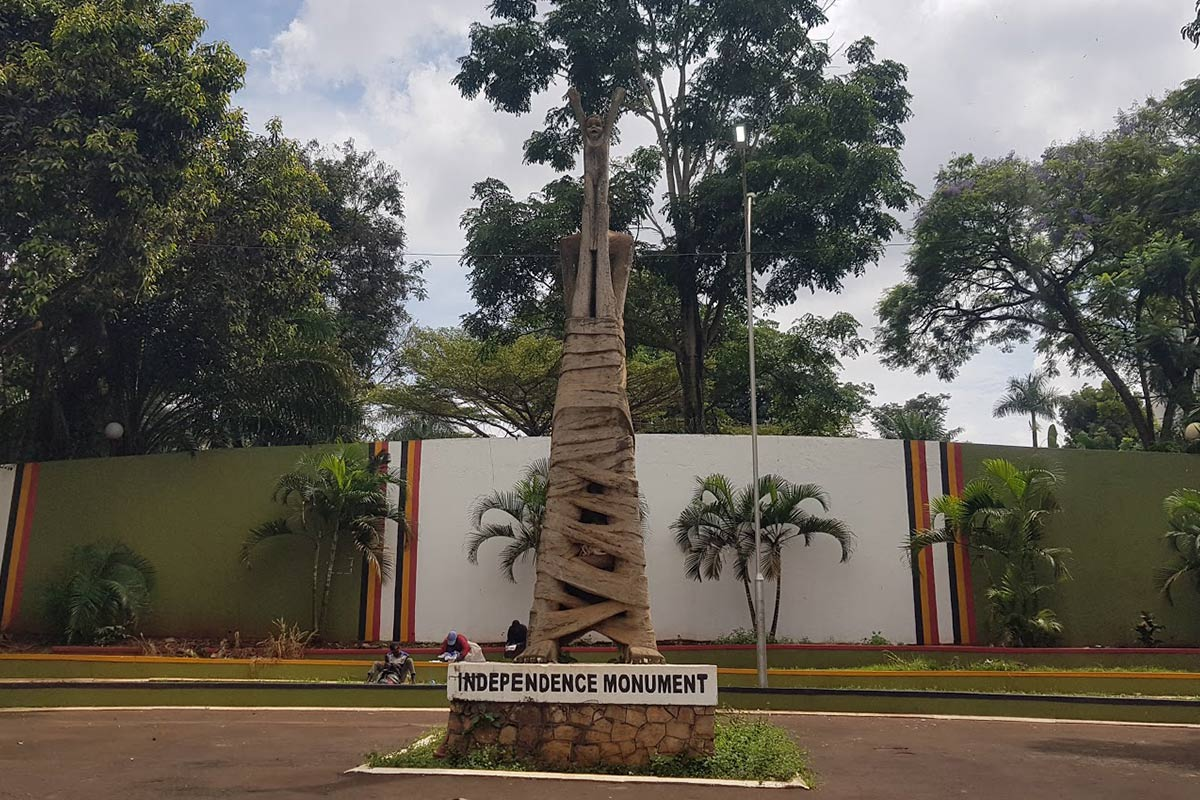 Independence Monument on Nile Avenue in Kampala City