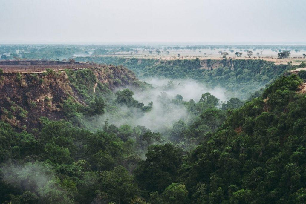 Kyambura Gorge, a sundown ravine forest in Queen Elizabeth National Park